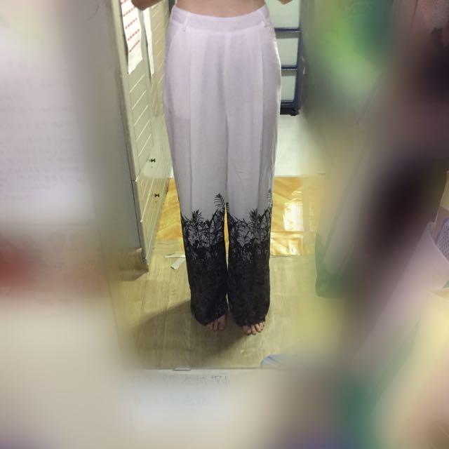 Long patterned flowy pants