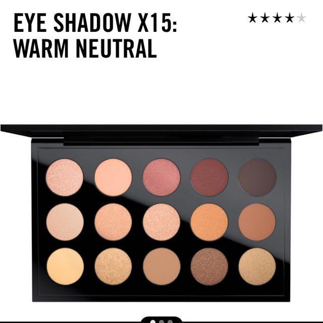 MAC eyeshadow pallete warm neutral