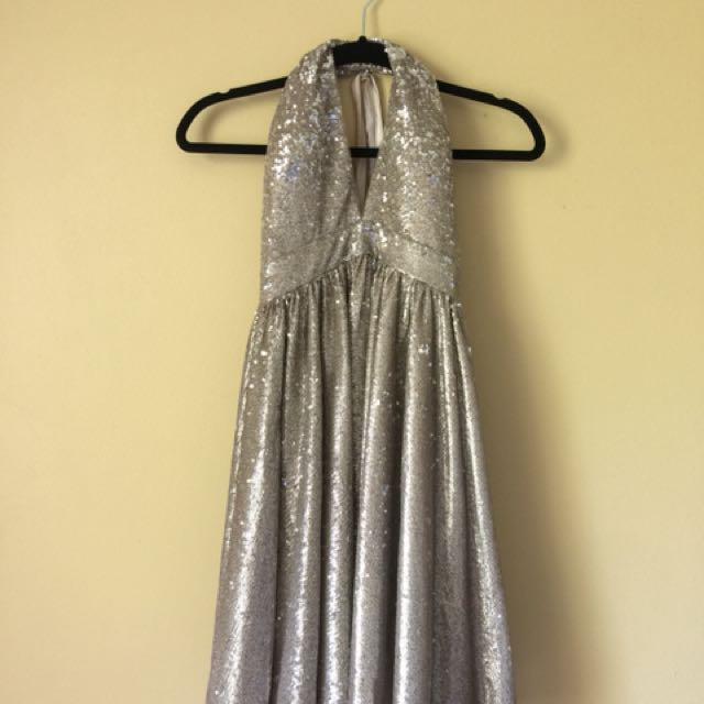 Mariano Sequin Halter Formal Dress + Tags