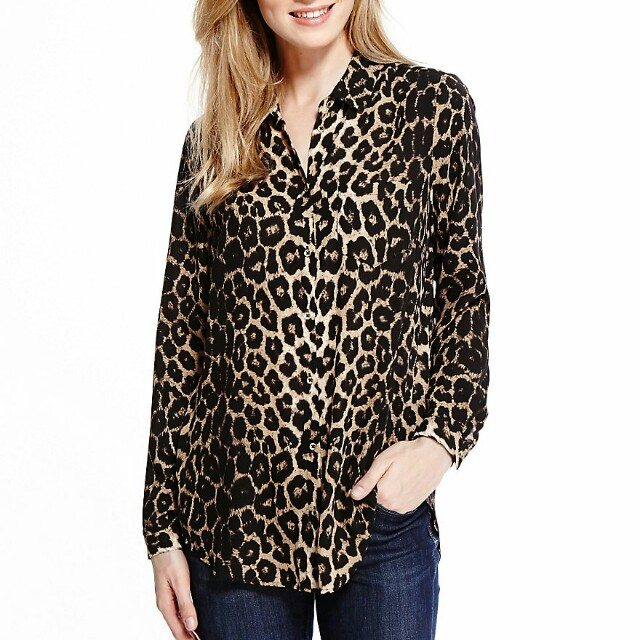 e3552f3914e2 MARKS & SPENCER Animal Print Tunic, Women's Fashion, Clothes, Tops on  Carousell