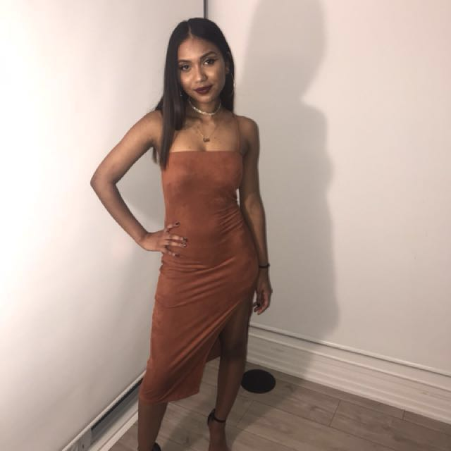 Mendocino suede apricot dress