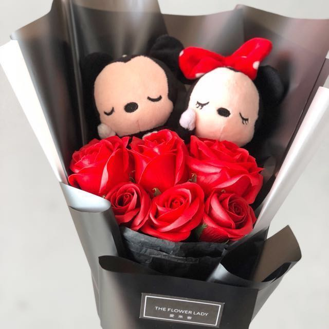 Fabulous ❤️Mickey and Minnie Mouse Bouquet, Design & Craft, Handmade  BD69