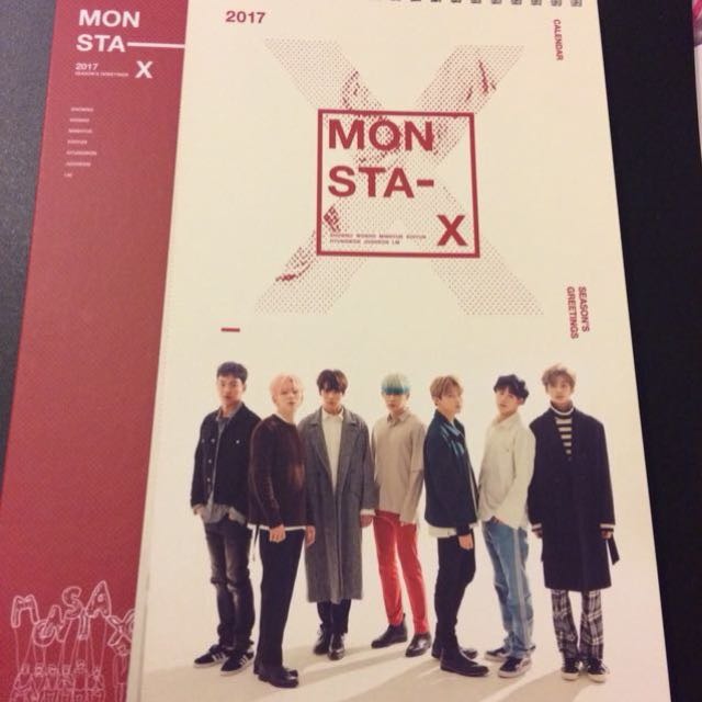 Monsta X 2017 Seasons Greetings Calendar