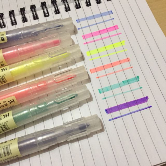 Muji Inspired Dual Tip Highlighters