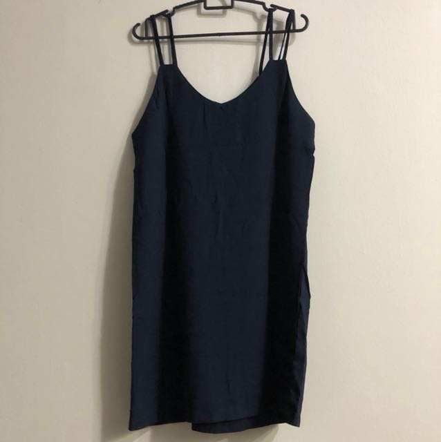 Navy slip on dress