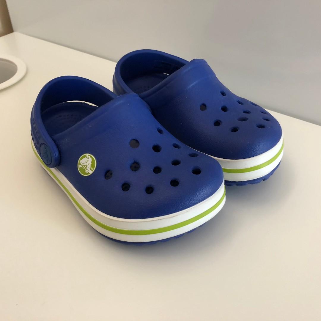 New Light Blue Crocs - Size 4-5