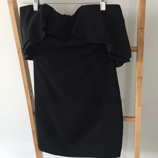 Nicola Finetti black Strapless Dress Size 10
