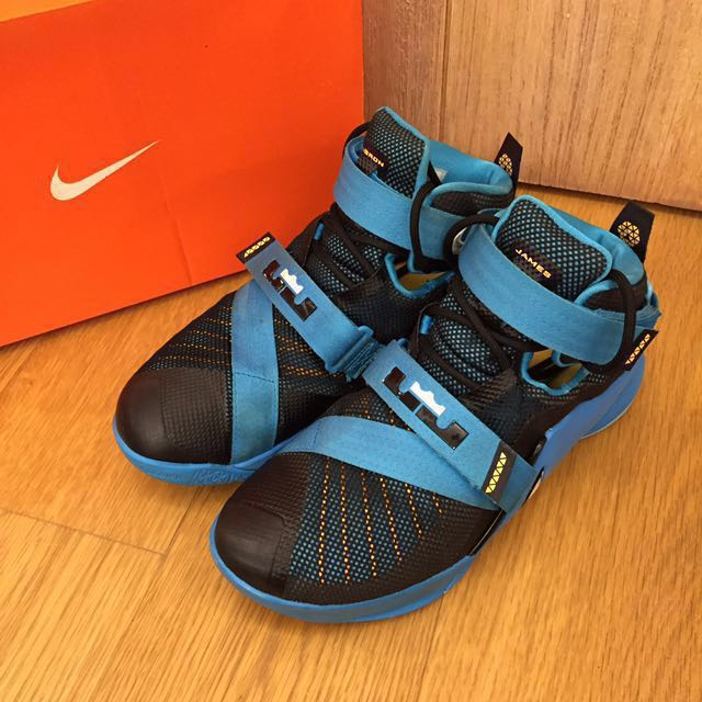 Nike Lebron James Soldier IX 9代 Us8號 藍色 籃球鞋