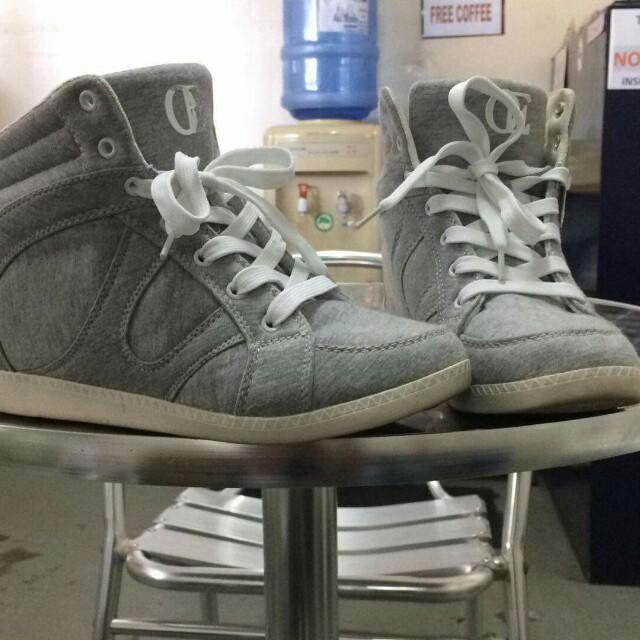 OE Grey Hidden Wedge Sneakers