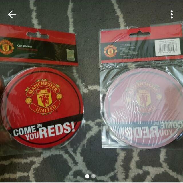 Official Merchandise Manchester United Car Sticker Men S Fashion