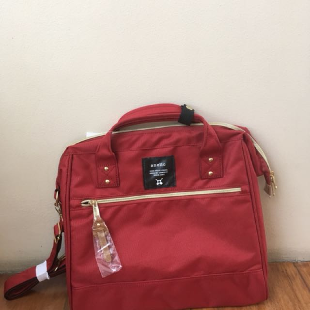 Original Anello Red hand and shoulder bag