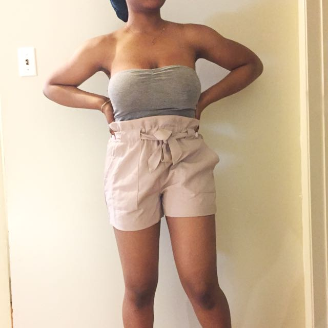Self-tie Paperbag Shorts