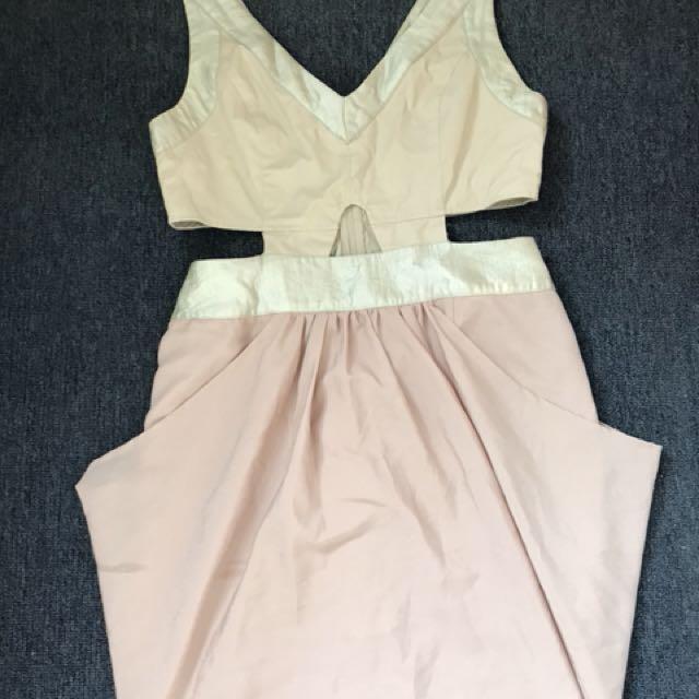 Pink stitch dress size 12