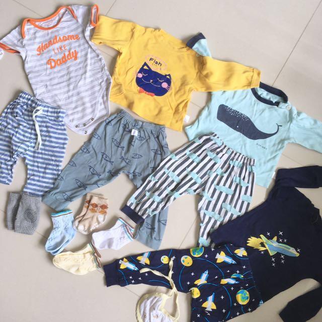 Preloved 45pcs Baby Clothing