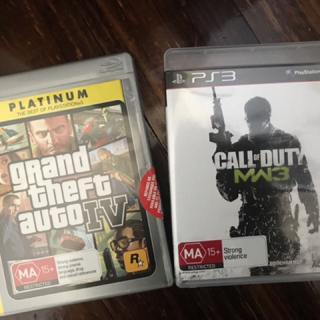 Ps3 grand theft auto IV and call of duty MW3