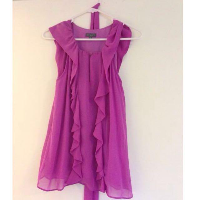 Purple pink Shiek top sleeveless