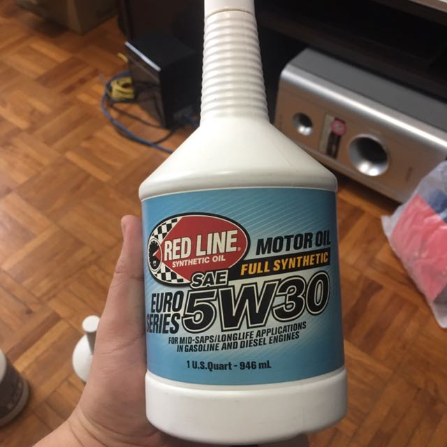 Red line engine oil euro series 5w-30 (1 quad x 3 bottles)