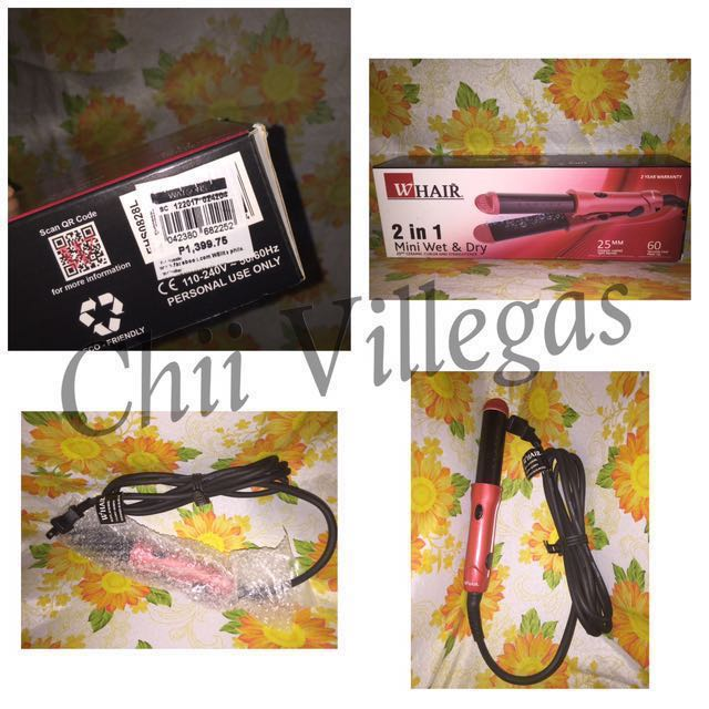REPRICED: HAIR STRAIGHTENER & CURLER - FREE SF AND HF
