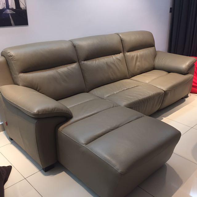 Rozel Full Leather Left L Shape Sofa Home Furniture On Carou