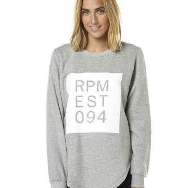 RPM Grey Crew Jumper