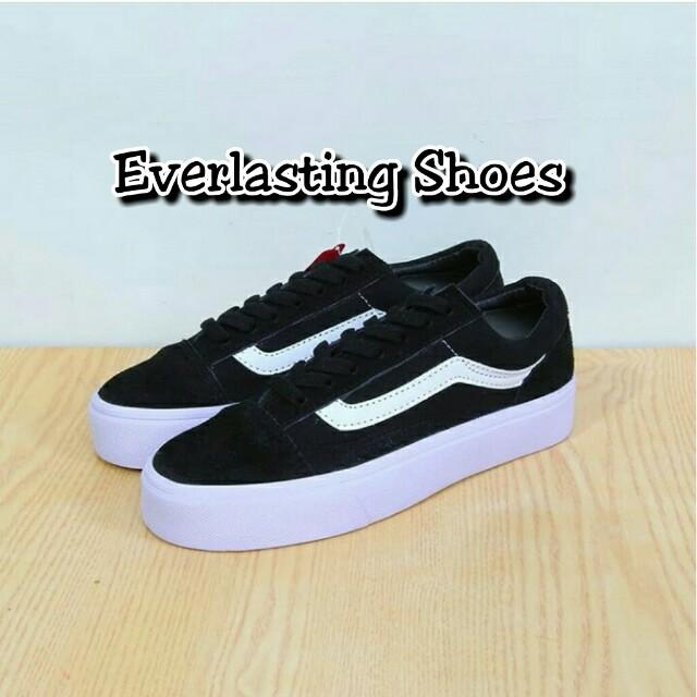 35220535cf Sepatu Vans Sneakers Old School Black White Waffle DT ICC Premium ...