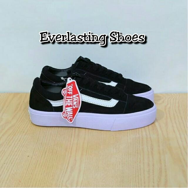 ad982ddc65 Sepatu Vans Sneakers Old School Black White Waffle DT ICC Premium Skool  Grade Ori