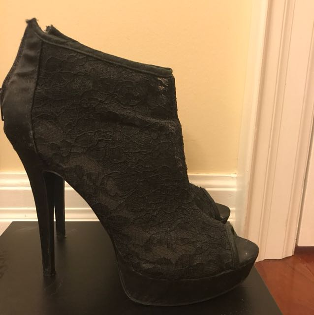 Size 9 Black Stiletto Heels 2-for-$10