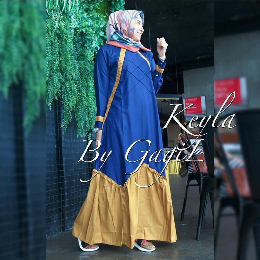 St 0218 Dress Busana Muslim Keyla Olshop Fashion Olshop Muslim