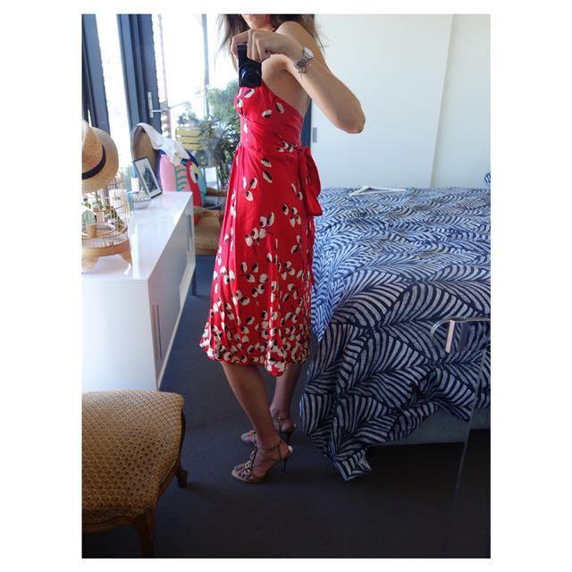 "Stunning Very Very Dress - Red ""Zannie his"" (100% silk)"