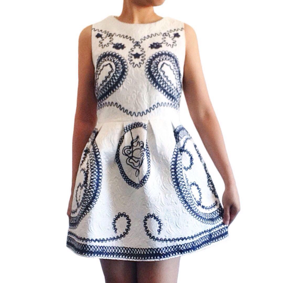 Textured Pleated Dress