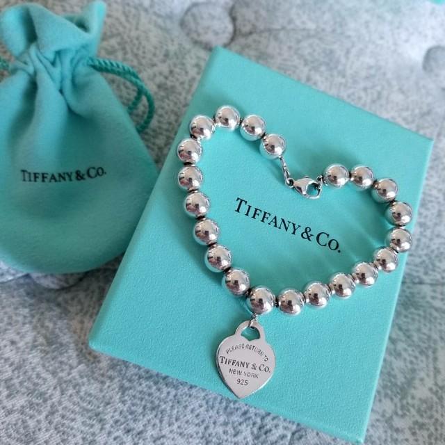 Tiffany & Co Heart Tag Bead Bracelet