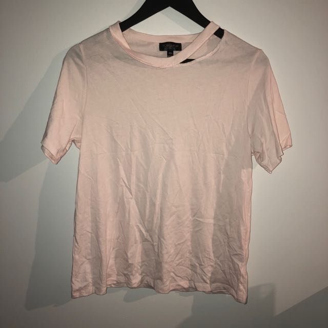 Top shop ripped Tshirt-baby pink