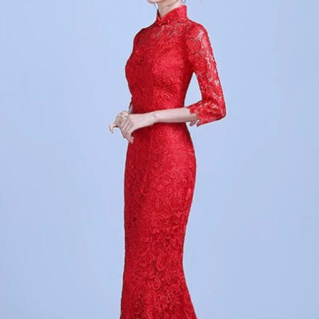 Traditional Red Wedding dress