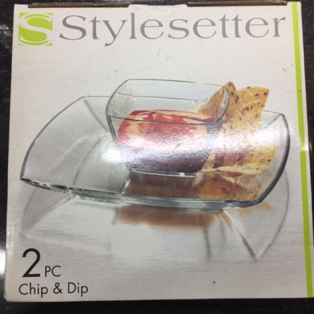 Transparent Chip & Dip set