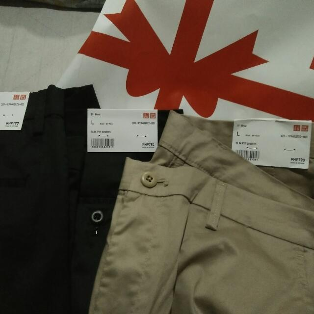 UNIQLO Shorts Black And Khaki