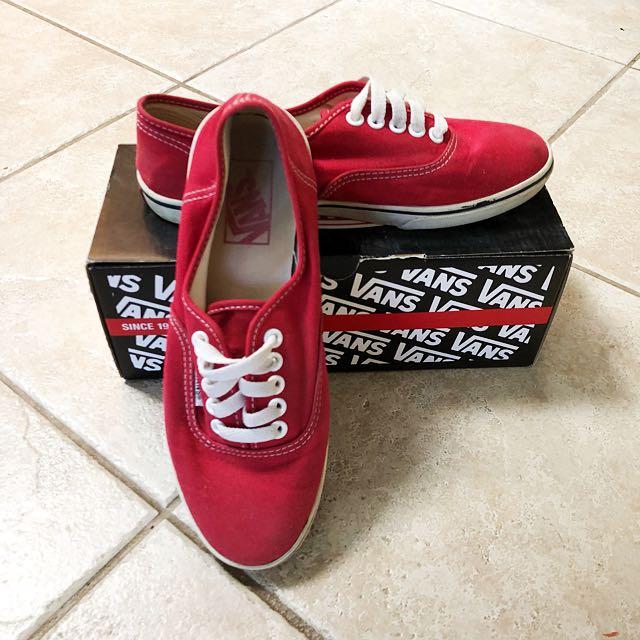 Vans Authentic Lo Pro Red