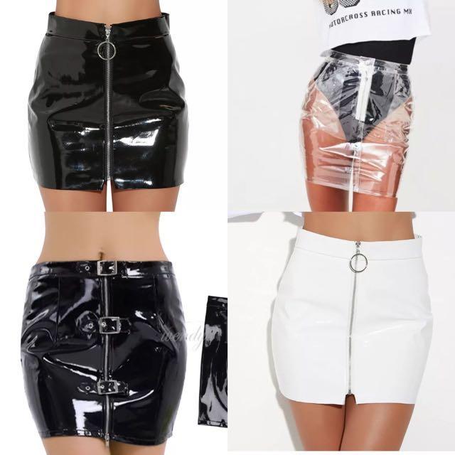 Vegan pleather/pvc style skirts ✨