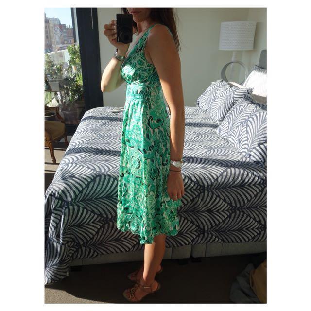 """Very Very Summer Dress - Green """"Ardra Mrs"""" (100% silk)"""