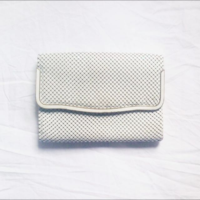 Vintage Glomesh Bag Clutch Cream