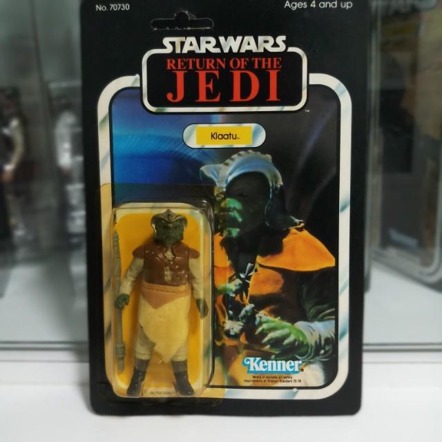 Vintage Star Wars ROTJ Klaatu Unpunched 65 card back Kenner