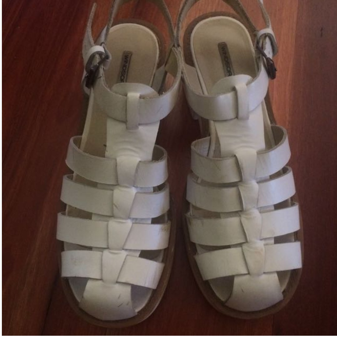 White Chunky Lily Sandals