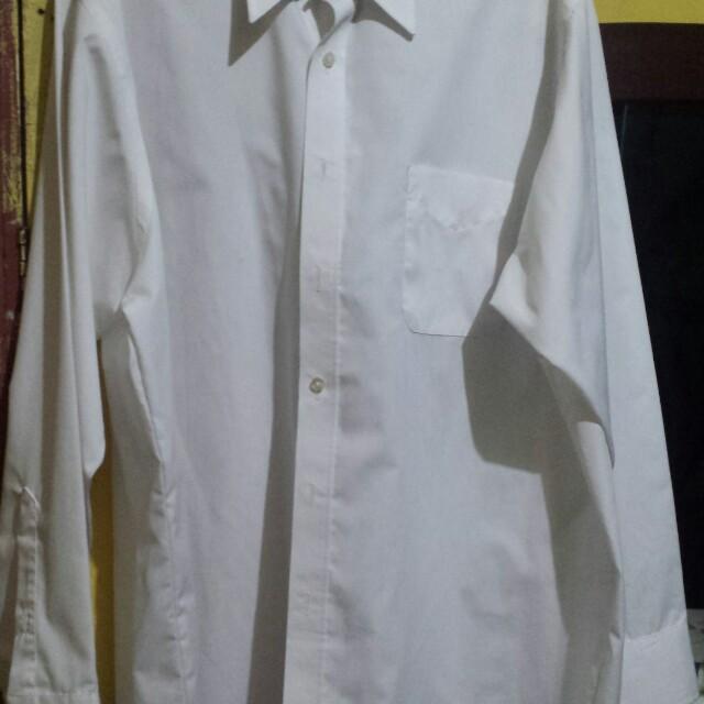 White polo wrinkle free oolo size xl for men