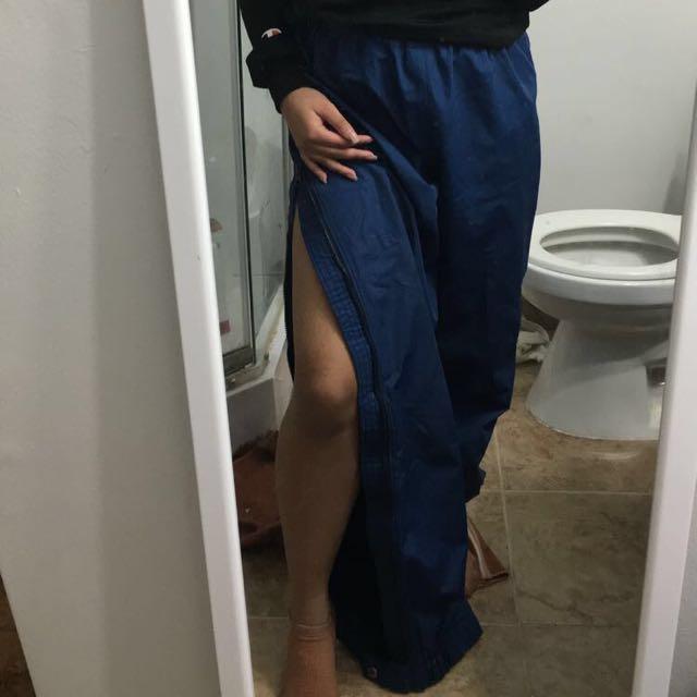 Windbreaker pants (kinda like a tearaway pants)