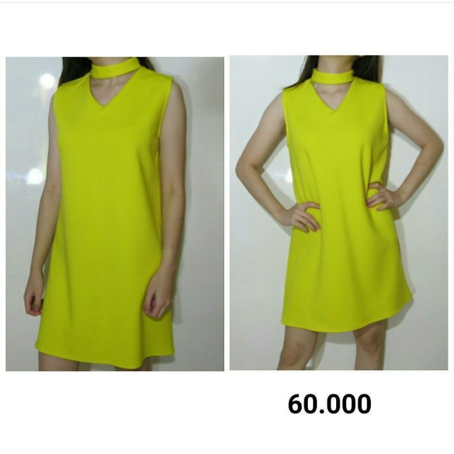 yellow neon dress