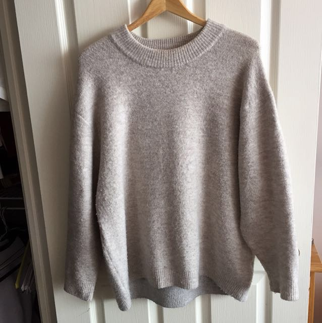 Zara cute overfit beige sweater