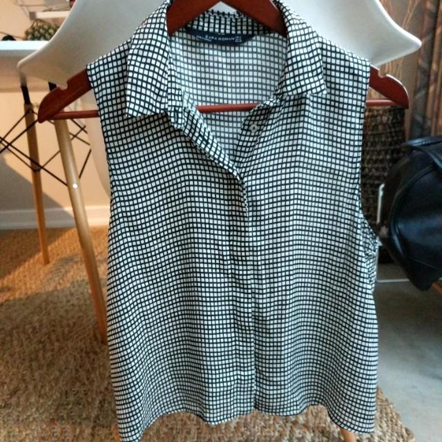 Zara grid shirt