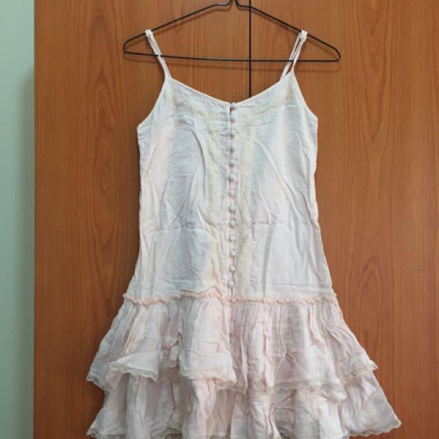 Zara light pink dress