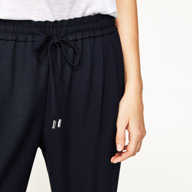 Zara navy trousers