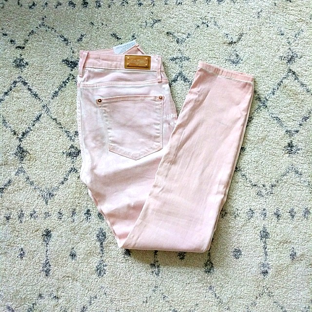 Zara rose gold jeans