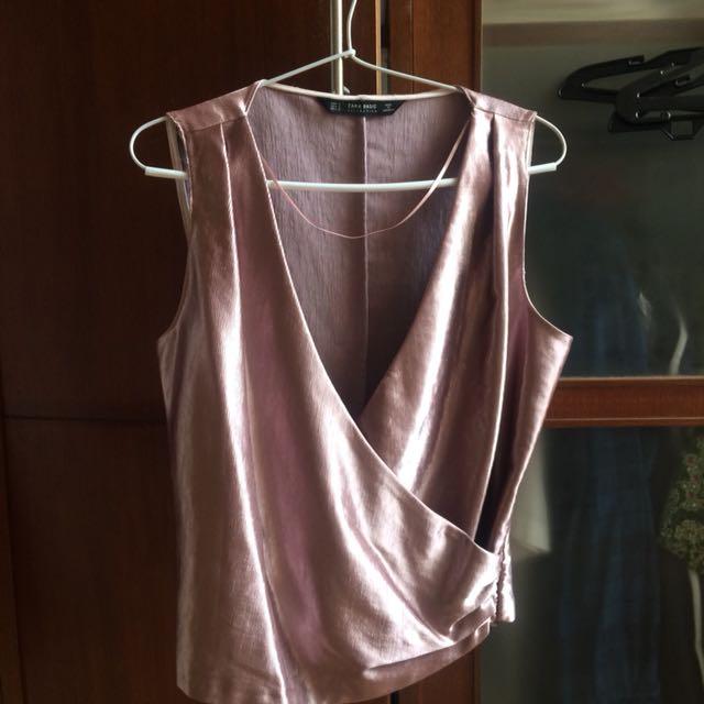 Zara Rose Gold Top